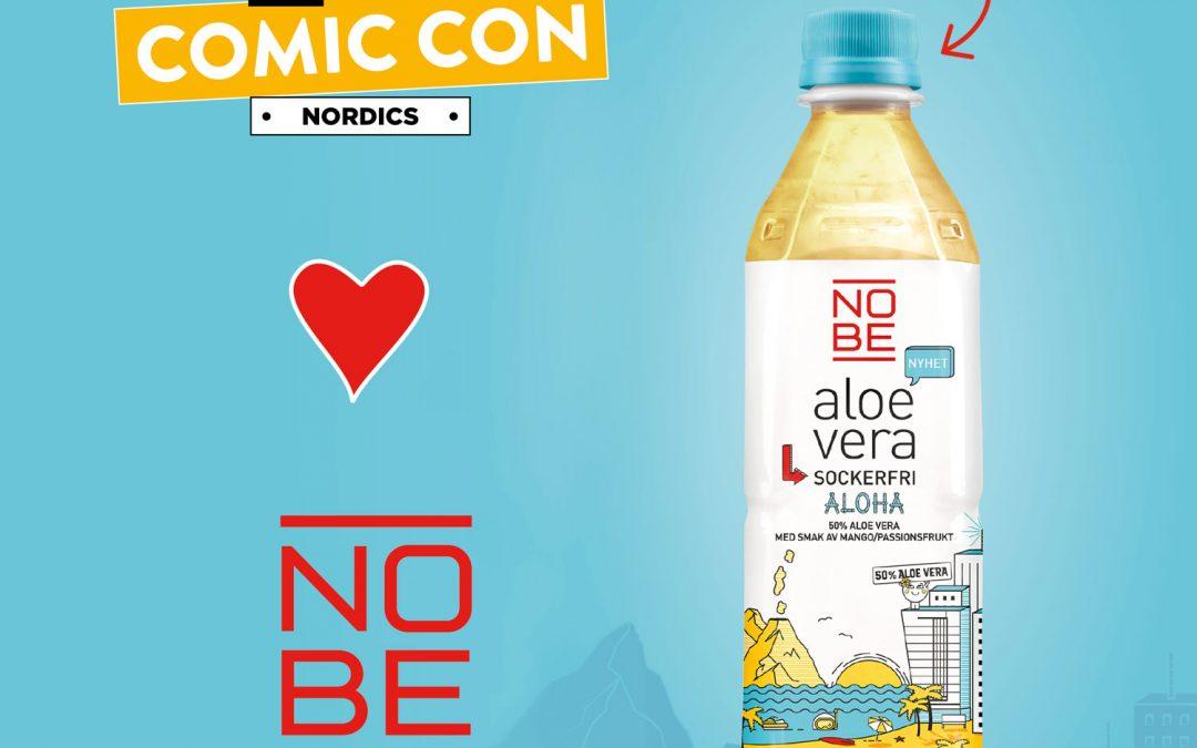 NOBE aloe vera officiell dryckessponsor till Comic Con Nordics